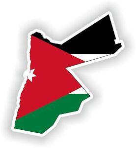 map flag of jordan sticker car truck laptop guitar scooter book