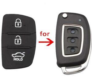 Hyundai 3 Button Replacement Rubber Key Pad for ix20 ix30 ix35 ix45 Remote Fob
