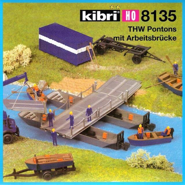 kibri H0 THW Pontons mit Arbeitsbrücke und Zubehör Art.-Nr.38135 Neu OVP