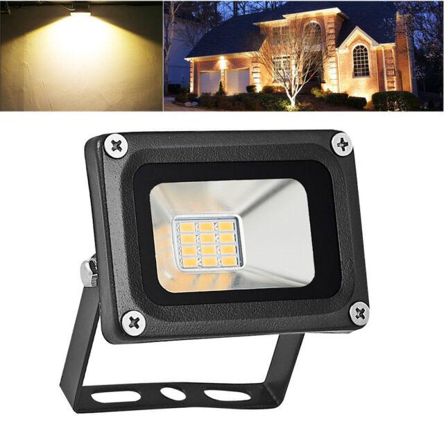 10w Led Flood Light Warm White Outdoor Lighting Landscape Lamp Spotlights Dc12v