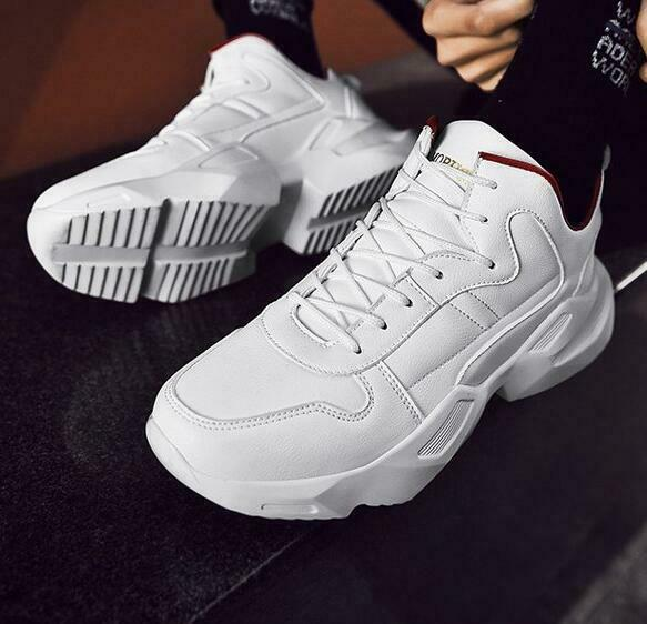 Mens High-top Running shoes Portable White Lace Up Breathable Sneakers Trainers