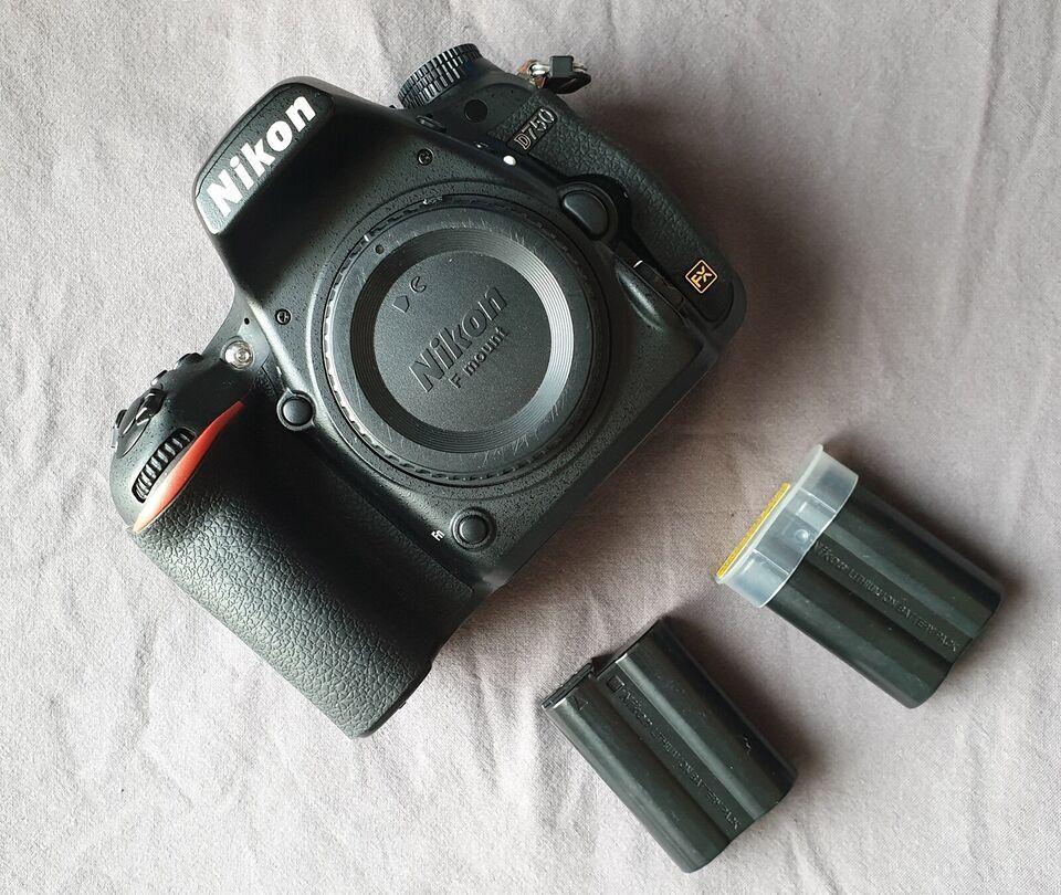 Nikon D750, spejlrefleks, 24,3 megapixels