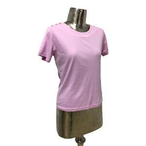 Emreco Top T-Shirt Cotton Begonia UK M 12 (EU40) NEW Women's RRP £23