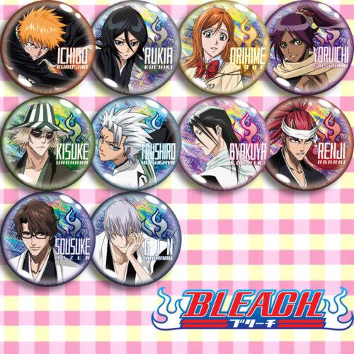 10pcs BLEACH Kurosaki Ichigo Rukia Orihime Yoruichi Pin Button Bedge Badge