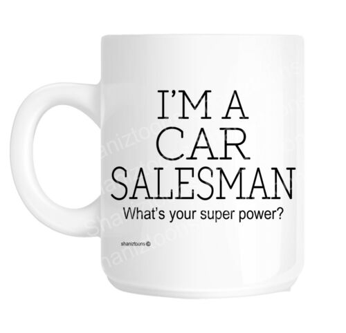 Vendeur de voitures drôle cadeau mug shan 1114