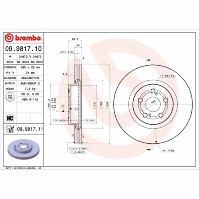 NK 204591 2x Bremsscheiben 2 Stück Scheibenbremse Brake Discs Vorderachse vorne