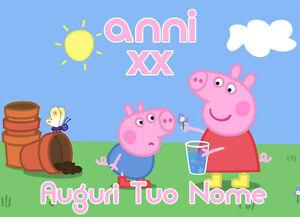 Cialda In Ostia Per Torta Peppa Pig E George Da Personalizzare