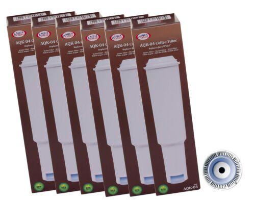 6 x Filtre Cartouches aqk-04 Compatible Jura Impressa White