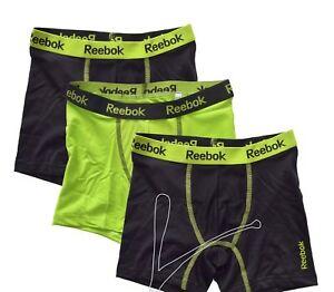 9a5454e3 New Reebok 3 Pack Boys Stretch Performance Boxer Briefs Black Red ...
