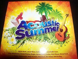 Acoustic-Summer-Aust-Various-2-CD-Taylor-Swift-Jason-Mraz-John-Mayer-Like-New