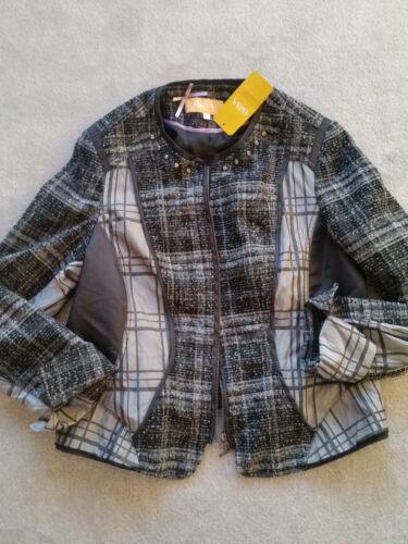 Nuovo Moda Notte 42 Blazer Gr Uk16 Biba Yw1q65P