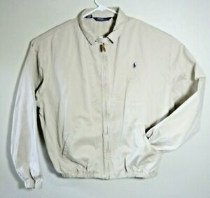 Polo-Ralph-Lauren-Men-Harrington-Golf-Boat-Jacket-Coat-Beige-Plaid-Lined-2XL