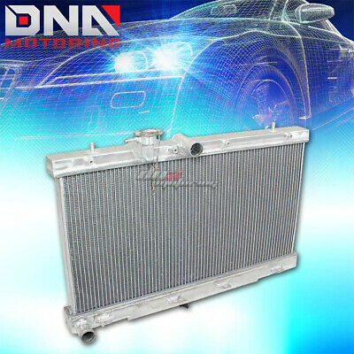 2-ROW ALUMINUM RACING RADIATOR+2 X BLUE FAN 99-07 YUKON//SIERRA//TAHOE//ESCALADE AT