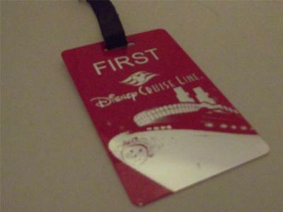 Novelty Luggage Crew Tags - First, Disney Cruise Line