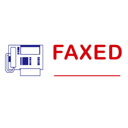 FAXED BEST Common Office usage RED Pre-Inked Stock Stamp by iMprueMark PS1040