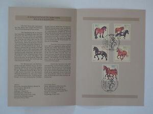 97j18-Bund-Erinnerungsblatt-1997-mit-ESST-Mi-Nr-1920-1924-Jugend-Pferde
