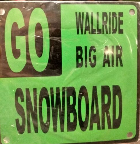"""Room Details about  /Snowboard Metal Magnetic Sign 4.5/"""" x 4.5/"""" for Locker Cabin"""