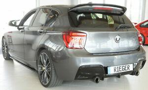 BMW-M135i-F20-F21-RIEGER-Rear-Bumper-Insert-Diffuser-Gloss-Black-2011-2015