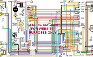 1967 67 Chevy Chevelle & El Camino Full Color Laminated Wiring Diagram 11