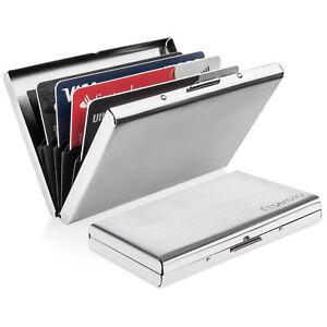 187585f074c Savisto Metal RFID Blocking Wallet Slim Anti-Scan Contactless Credit ...
