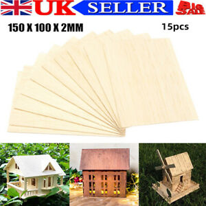 15x-Wooden-Plate-Model-Balsa-Wood-Sheet-DIY-House-Ship-Aircraft-Mold-Xmas-Gift