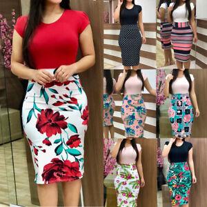 Elegant-Women-039-s-Business-Office-Dress-Formal-Bodycon-Sheath-Pencil-Dresses