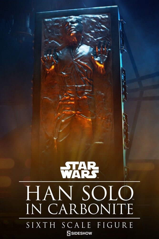Han Solo in Carbonite Star Wars Sideshow Collectible Sixth Scale 1 6