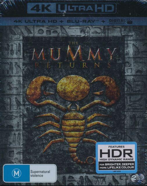 Mummy Returns Blu-ray UHD digital UV Brendan Fraser Rachel Wiesz