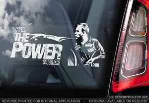 Phil-039-The-Power-039-Taylor-Coche-Pegatina-Ventana-Darts-Jugador-180-Cartel
