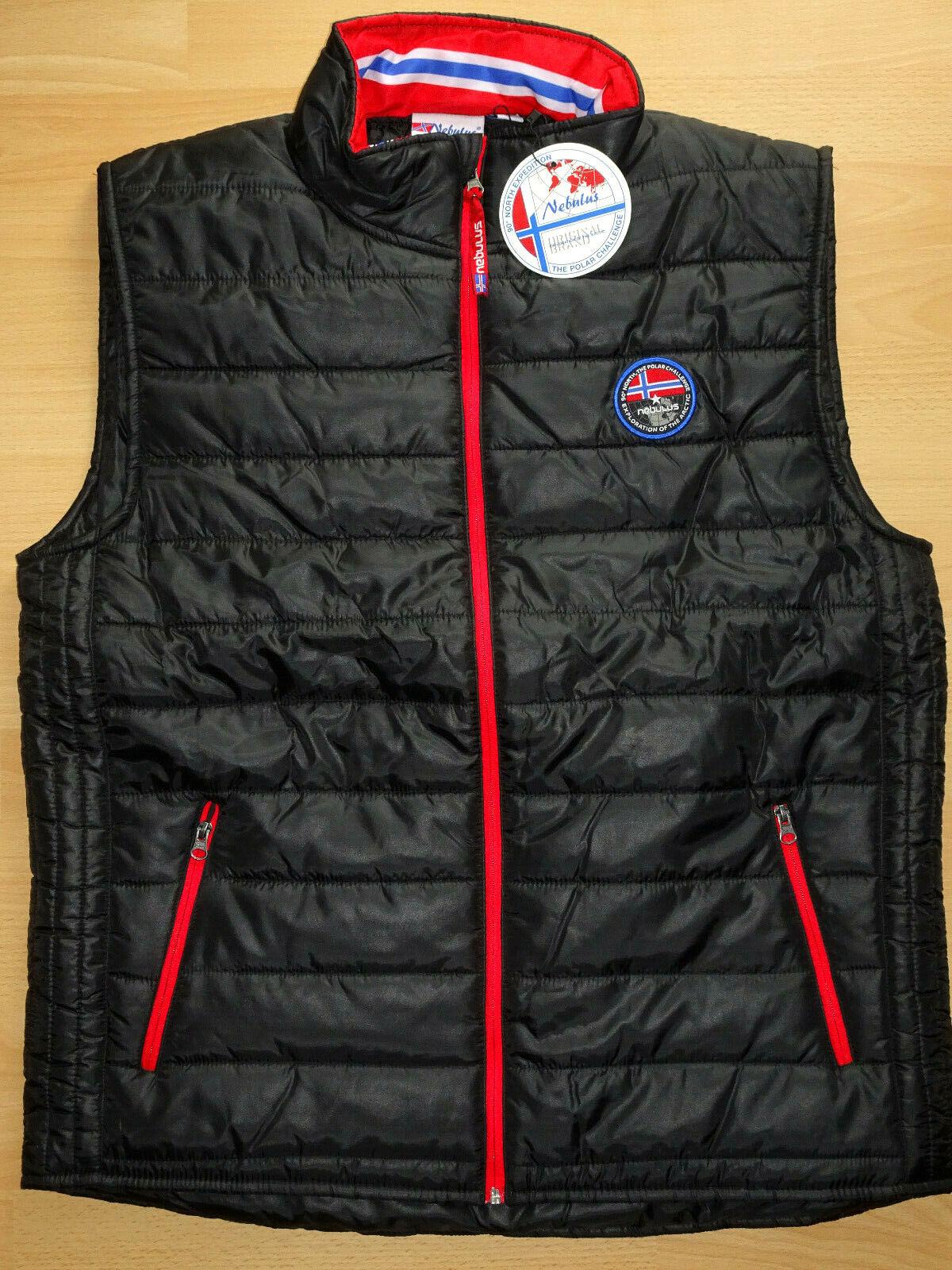 Caballeros Nebulus estupendos chaleco negro en daunenoptik chaqueta en talla m nuevo