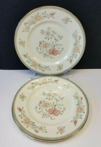 Set-3-Royal-Doulton-Minton-Jasmine-10-75-034-Fine-Bone-China-Dinner-Plate-1977-1997