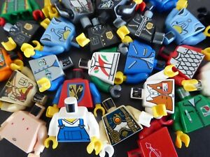 LEGO-10-mal-TORSO-Oberteile-von-Figuren-Maennchen-Figurenteile-Konvolut