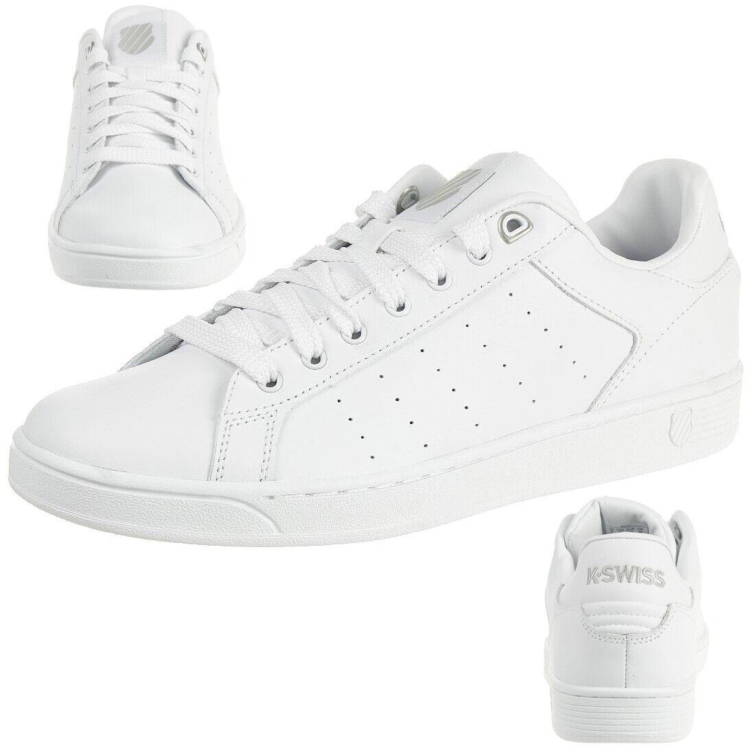 K-Swiss Clean Esvoiturepins Cmf paniers Chaussures pour Hommes Blanc 05353-131-M