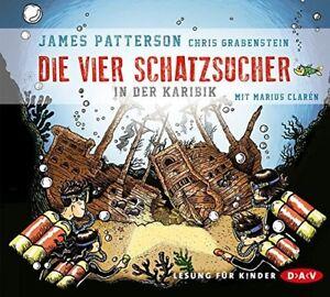 JAMES-PATTERSON-CHRIS-GRABENSTEIN-DIE-VIER-SCHATZSUCHER-IN-DER-KARIBIK-3-CD-NEW