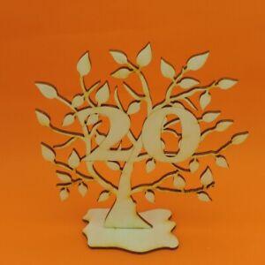 Jubilaeums-Baum-20-Geburtstag-aus-Holz-16-cm-Lebensbaum-Geschenk-Hochzeit
