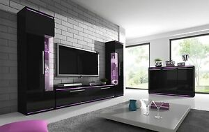 High Gloss TV Stand Tv Wall Unit Living