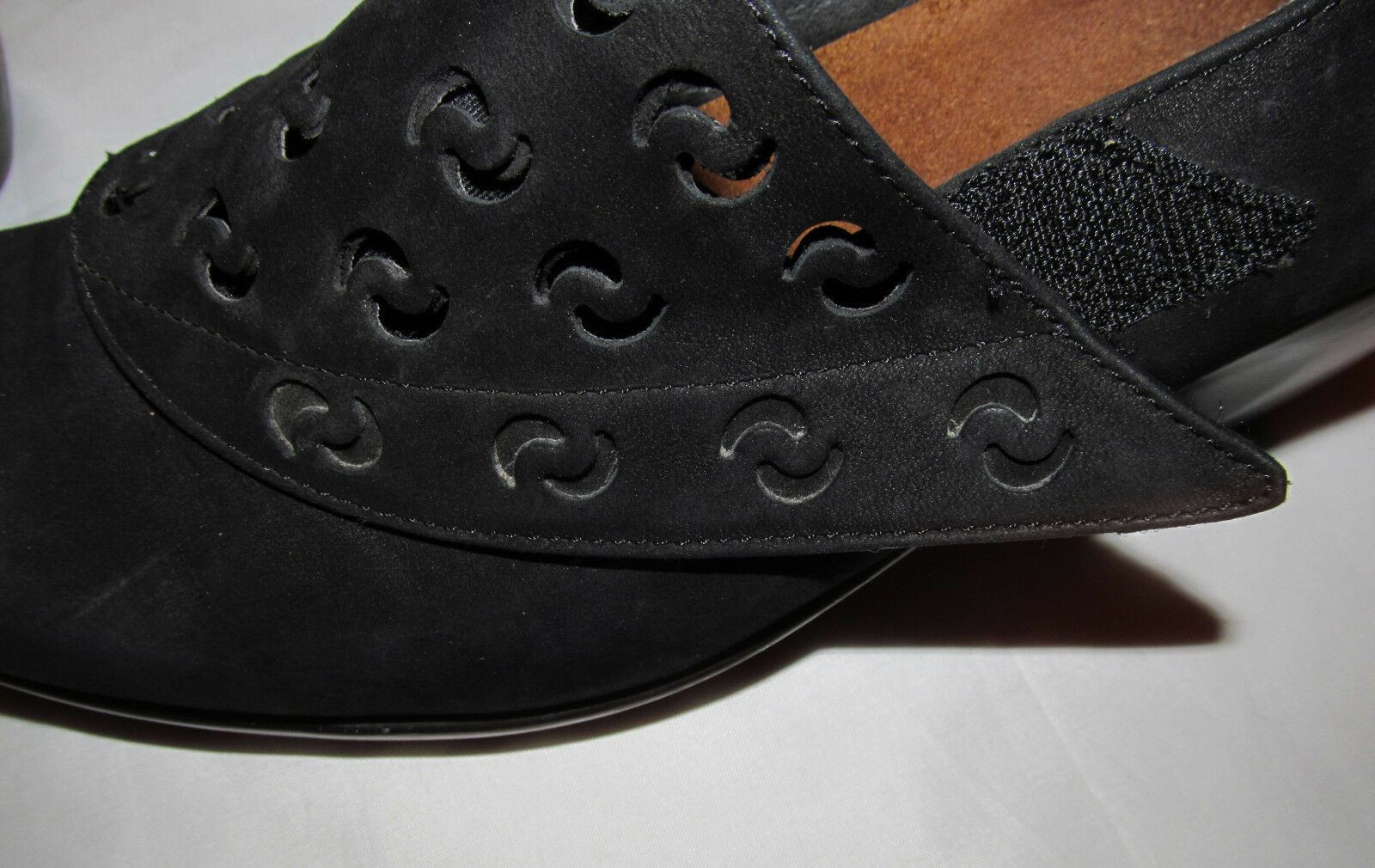 NAOT PRECIOUS nubick black suede feel perfoeated strap ankle shoes shoes shoes booties 39 f59746