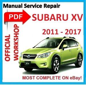 official workshop manual service repair for subaru impreza xv 2011 rh ebay co uk xv-dv333 service manual subaru xv service manual download