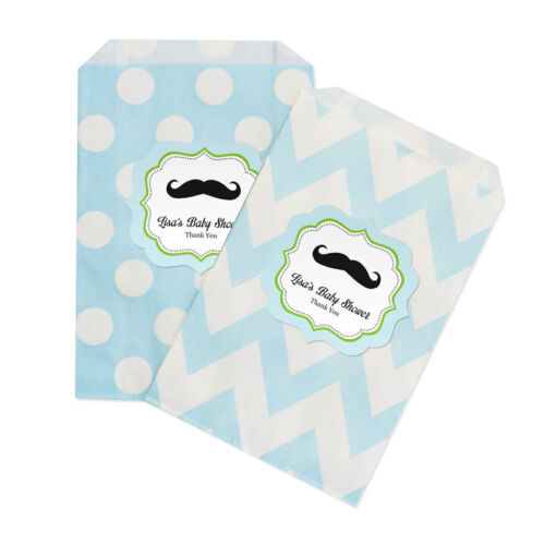 Little Man PERSONALIZED Baby Shower Birthday Favor Goodie Bags lot of 36