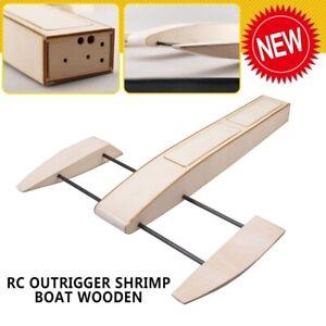2019-Adult-RC-Outrigger-Shrimp-Boat-Wooden-495mm-Sponson-Race-Boat-Kit-DIY