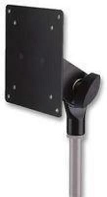 NEW Studio DJ LCD Screen Mount.Swivel Movement.Attaches To Microphone Stands.Blk