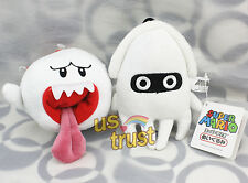 Super Mario Brothers White Boo Ghost & Blooper Plush Doll 2pcs