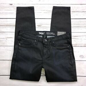 Mossimo-Skinny-Jeans-Size-6-Womens-Jegging-Coated-Denim-Mid-Rise-Power-Stretch