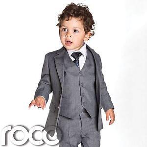Baby boys grey slim fit suits, boys grey suit, boys Page boy ...