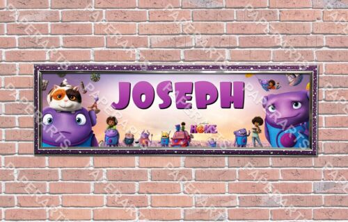 Personalized Customized Dreamworks Home Movie Poster with Frame Wall Mount