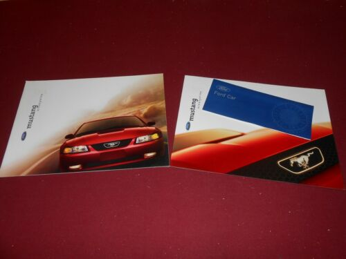 BIG FOLDOUT POSTER /& 99 EXTEROR COLORS BROCHURE 1999 FORD MUSTANG 22 p CATALOG