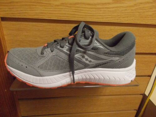 SAUCONY WOMEN/'S COHESION 13 RUNNING OR WALKING SHOES GREY CORAL S10559-5 NEW