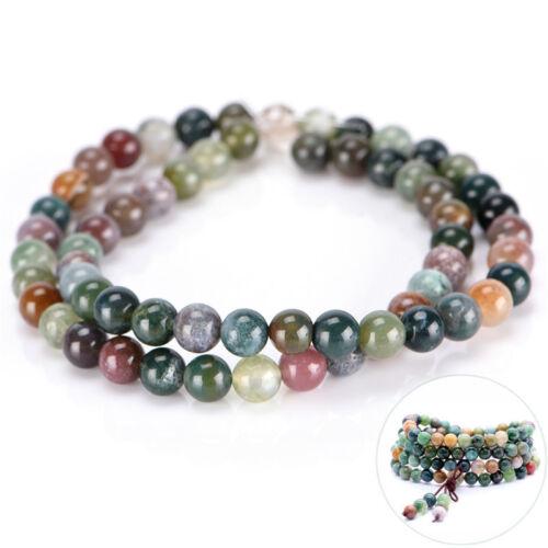 Gebet tibetische 6mm Indische Achat Perlen Selbsthilfe Glück Armband Halskette