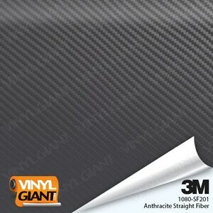 3M 1080 Series ANTHRACITE STRAIGHT FIBER Vinyl Vehicle Car Wrap Film Roll SF201