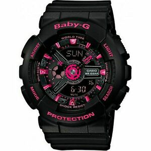100-Original-CASIO-BABY-G-BA-111-1A-BLACK-ANALOG-DIGITAL
